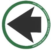 Free Automatic Door Arrow Sticker
