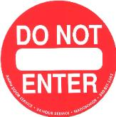 Automatic Door Do Not Enter Sticker
