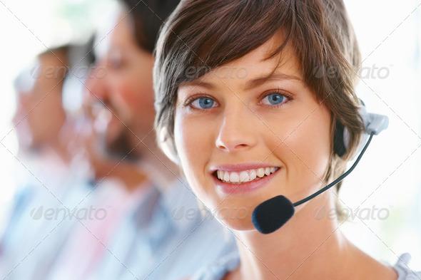 Contact Call Center Woman